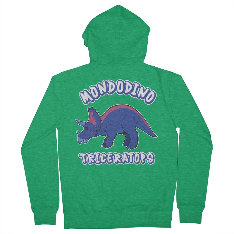Mondodino - Triceratops 1 Men's Zip-Up Hoody by Carlos E Mendez Art - Featured Design (CLICK HERE)