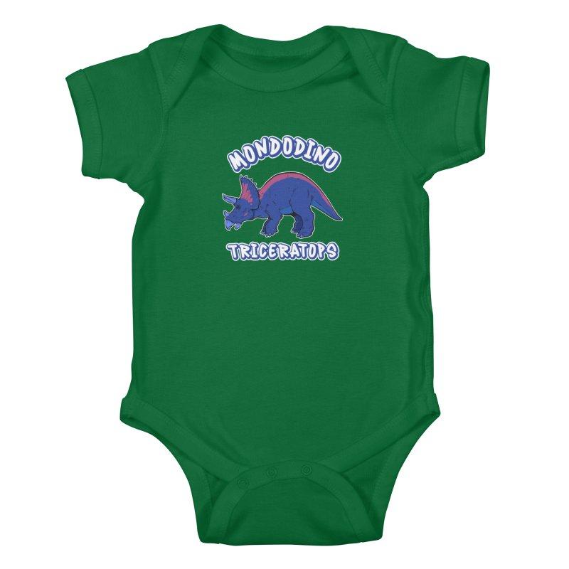 Mondodino - Triceratops 1 Kids Baby Bodysuit by Carlos E Mendez Art - Featured Design (CLICK HERE)