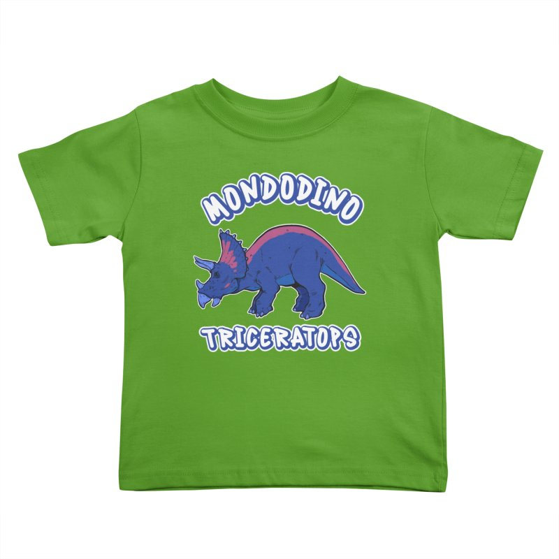 Mondodino - Triceratops 1 Kids Toddler T-Shirt by Carlos E Mendez Art - Featured Design (CLICK HERE)