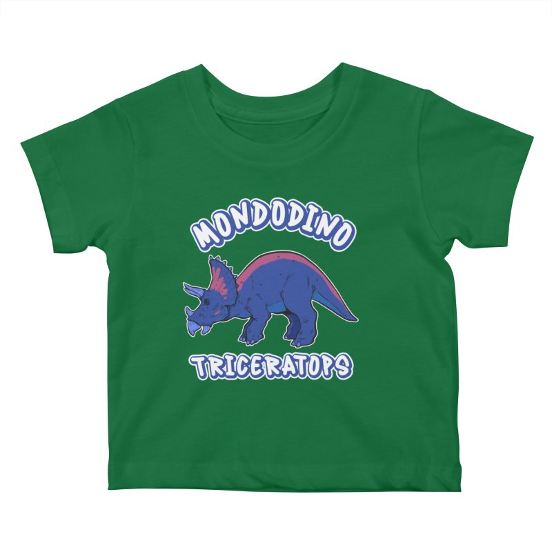 Mondodino - Triceratops 1 Kids Baby T-Shirt by Carlos E Mendez Art - Featured Design (CLICK HERE)
