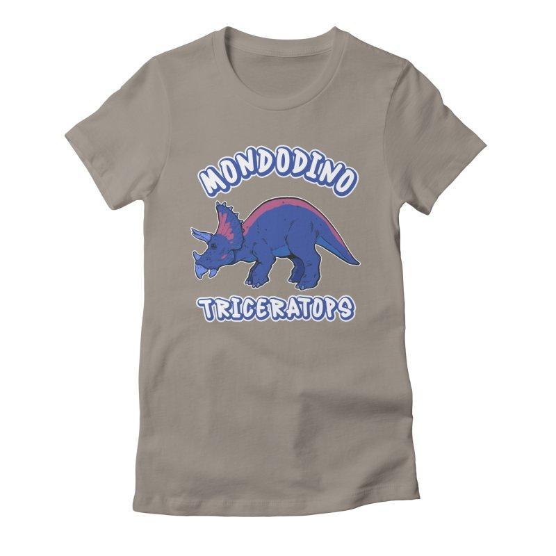 Mondodino - Triceratops 1 Women's T-Shirt by Carlos E Mendez Art - Featured Design (CLICK HERE)
