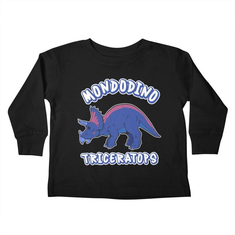 Mondodino - Triceratops 1 Kids Toddler Longsleeve T-Shirt by Carlos E Mendez Art - Featured Design (CLICK HERE)