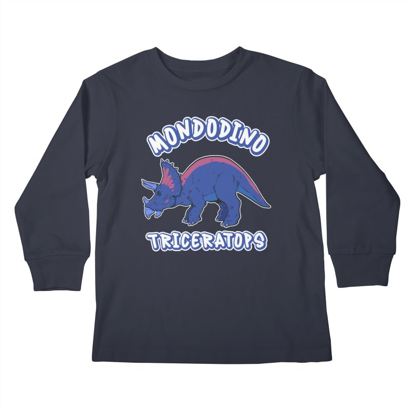 Mondodino - Triceratops 1 Kids Longsleeve T-Shirt by Carlos E Mendez Art - Featured Design (CLICK HERE)