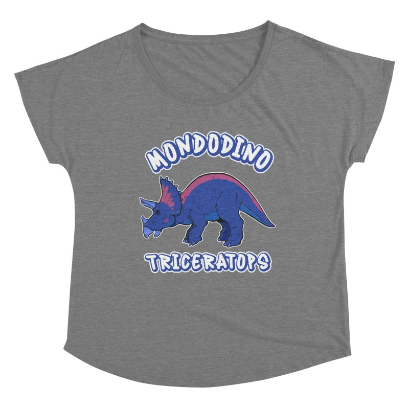 Mondodino - Triceratops 1 Women's Scoop Neck by Carlos E Mendez Art - Featured Design (CLICK HERE)
