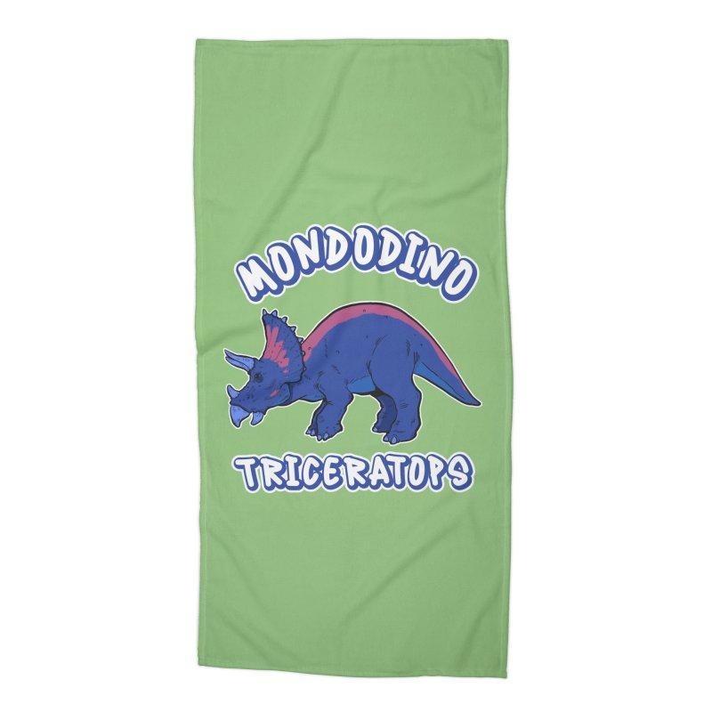 Mondodino - Triceratops 1 Accessories Beach Towel by Carlos E Mendez Art - Featured Design (CLICK HERE)