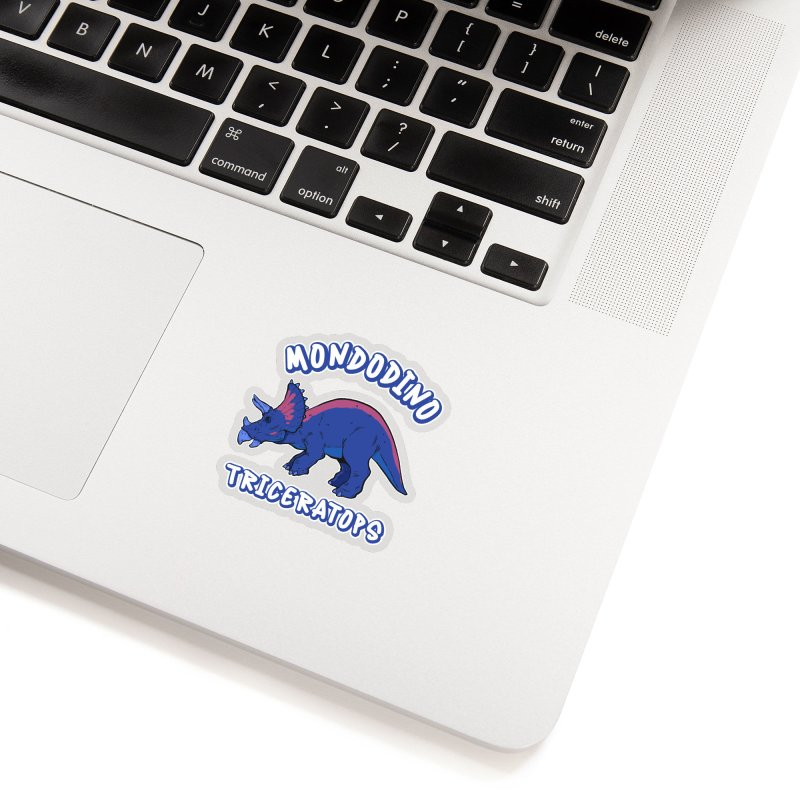 Mondodino - Triceratops 1 Accessories Sticker by Carlos E Mendez Art - Featured Design (CLICK HERE)