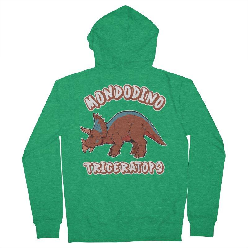 Mondodino - Triceratops 2 Men's Zip-Up Hoody by Carlos E Mendez Art - Featured Design (CLICK HERE)