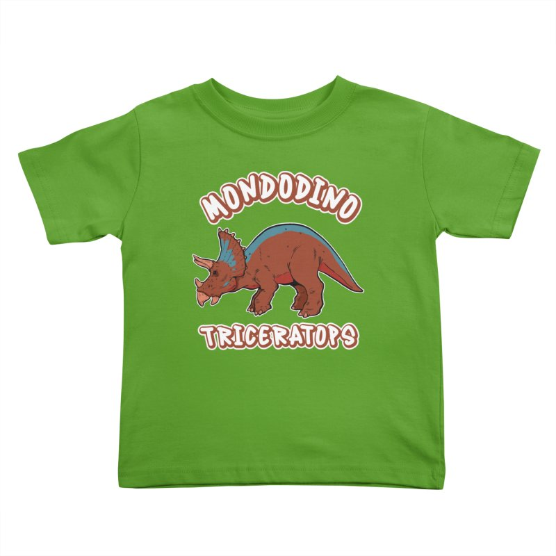 Mondodino - Triceratops 2 Kids Toddler T-Shirt by Carlos E Mendez Art - Featured Design (CLICK HERE)
