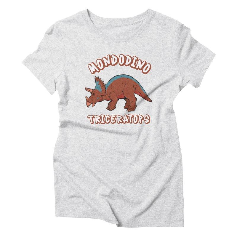 Mondodino - Triceratops 2 Women's T-Shirt by Carlos E Mendez Art - Featured Design (CLICK HERE)