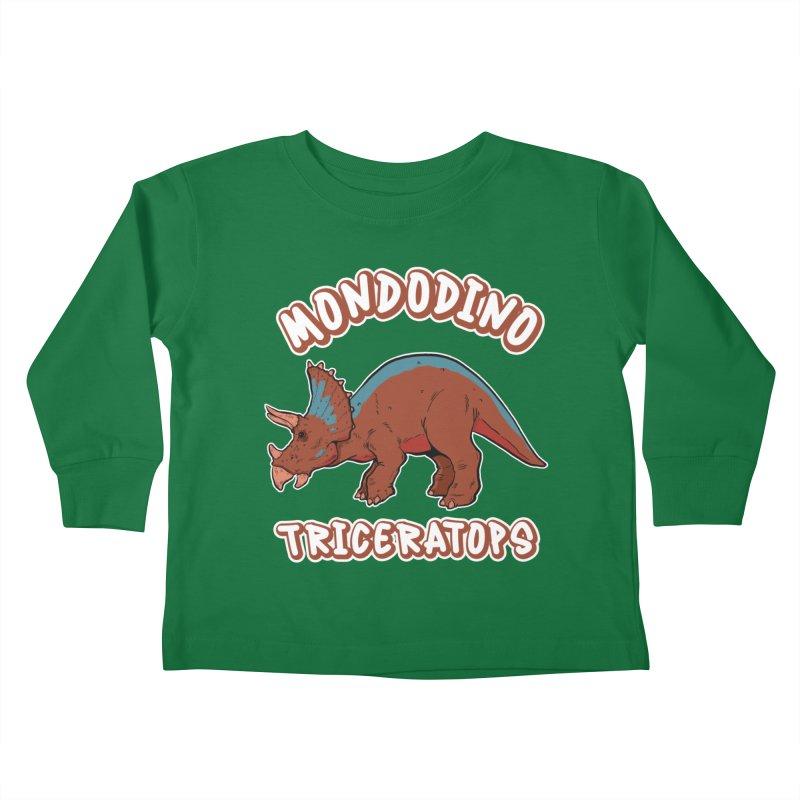 Mondodino - Triceratops 2 Kids Toddler Longsleeve T-Shirt by Carlos E Mendez Art - Featured Design (CLICK HERE)