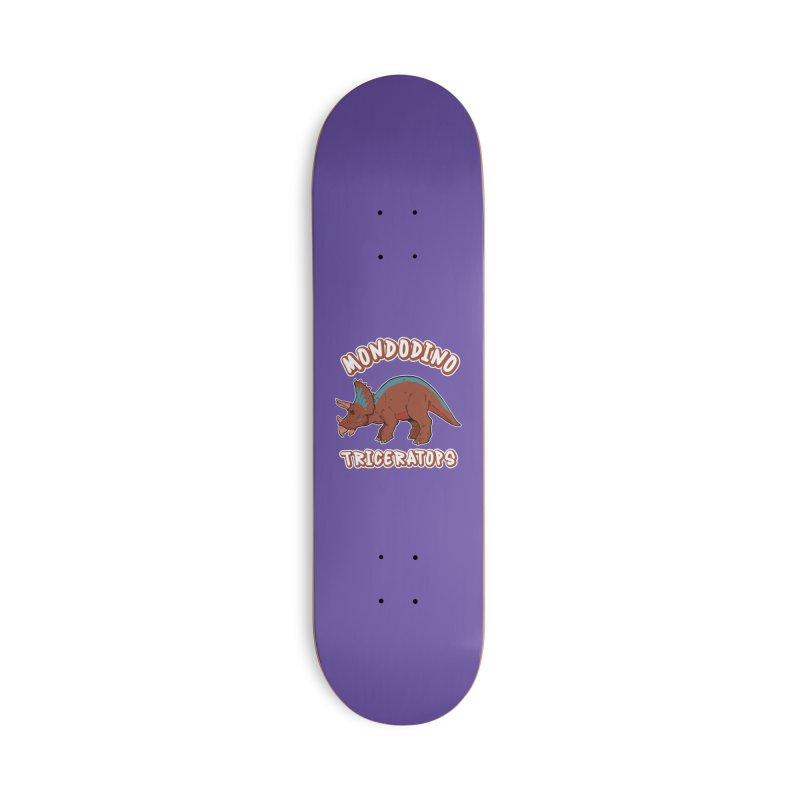 Mondodino - Triceratops 2 Accessories Skateboard by Carlos E Mendez Art - Featured Design (CLICK HERE)
