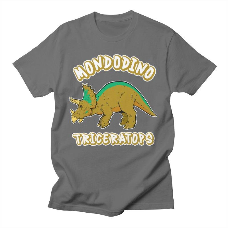 Mondodino - Triceratops 3 Men's T-Shirt by Carlos E Mendez Art - Featured Design (CLICK HERE)