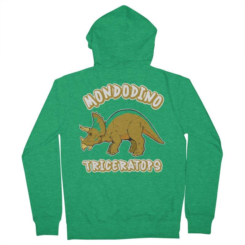 Mondodino - Triceratops 3 Women's Zip-Up Hoody by Carlos E Mendez Art - Featured Design (CLICK HERE)