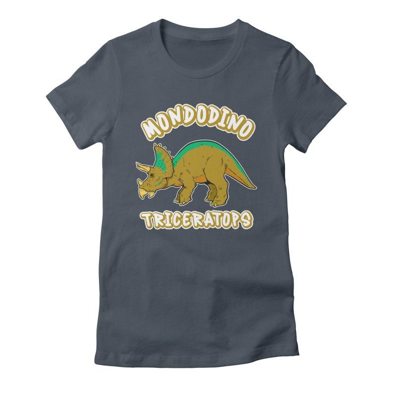Mondodino - Triceratops 3 Women's T-Shirt by Carlos E Mendez Art
