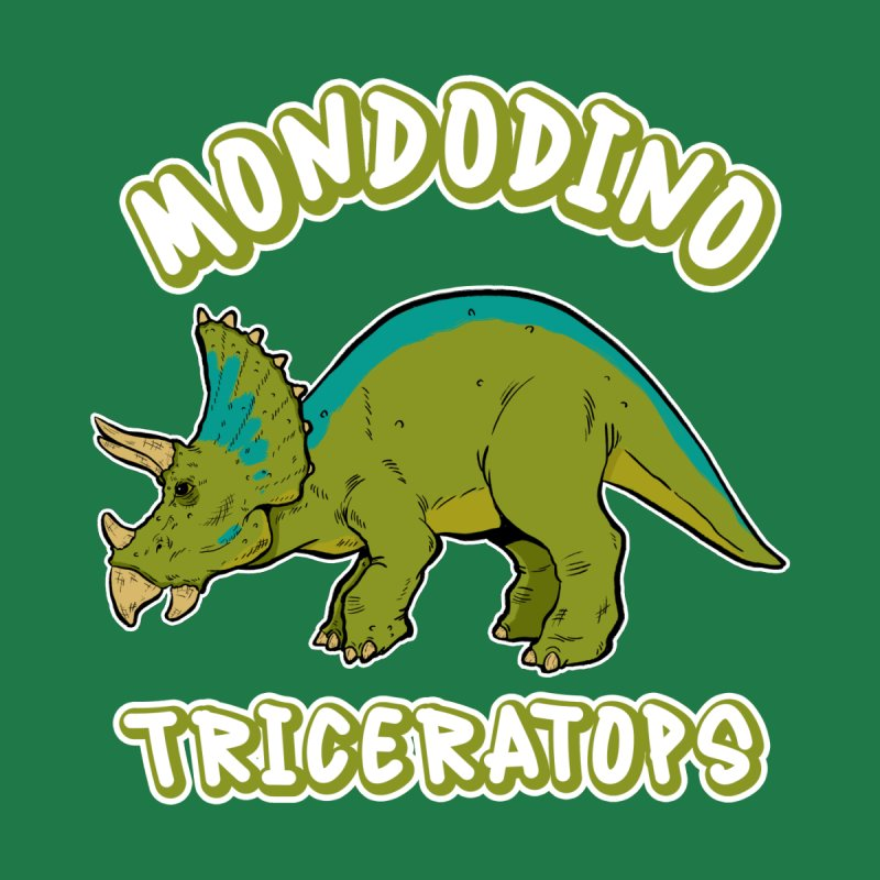Mondodino - Triceratops 4 Accessories Button by Carlos E Mendez Art