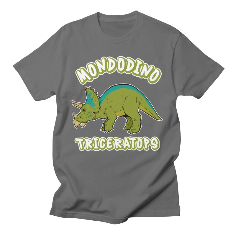 Mondodino - Triceratops 4 Men's T-Shirt by Carlos E Mendez Art - Featured Design (CLICK HERE)
