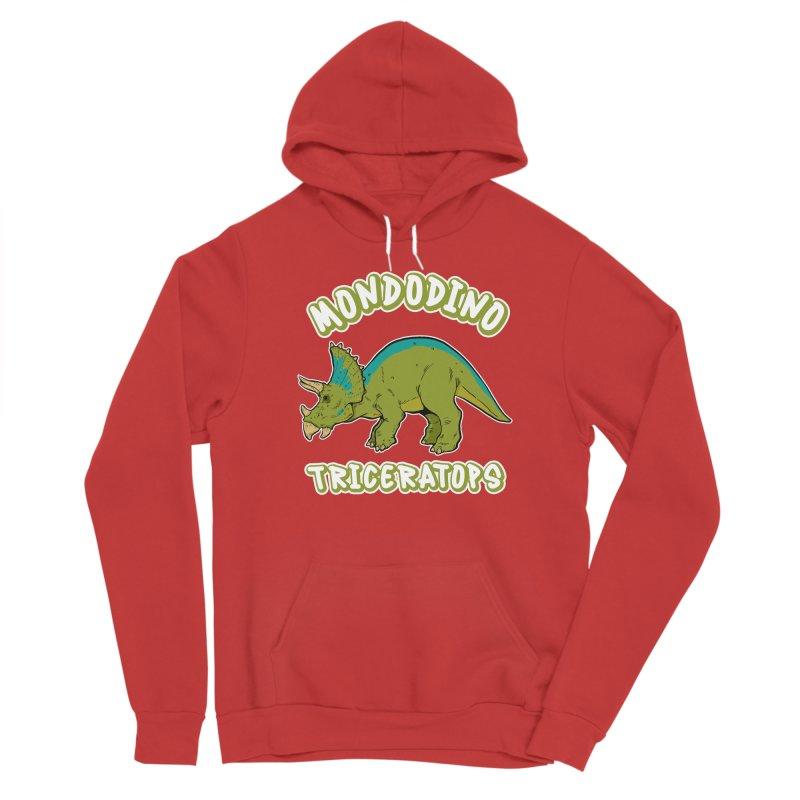 Mondodino - Triceratops 4 Men's Pullover Hoody by Carlos E Mendez Art - Featured Design (CLICK HERE)