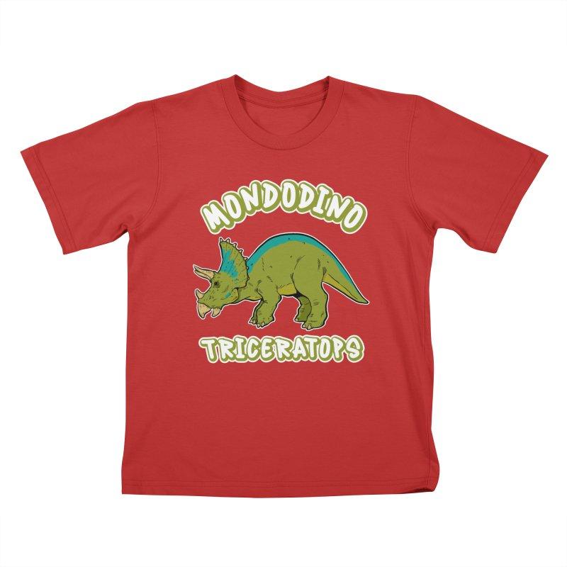 Mondodino - Triceratops 4 Kids T-Shirt by Carlos E Mendez Art - Featured Design (CLICK HERE)