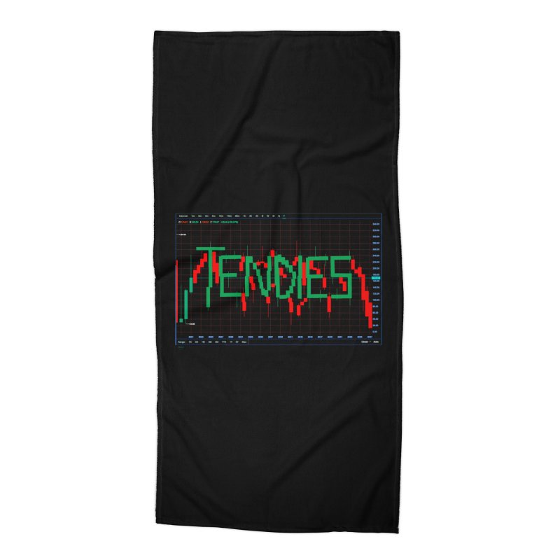 STOCK TIPS - TENDIES Accessories Beach Towel by Carlos E Mendez Art - Featured Design (CLICK HERE)
