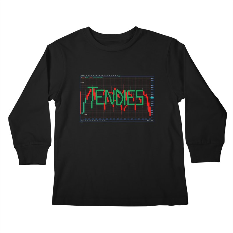 STOCK TIPS - TENDIES Kids Longsleeve T-Shirt by Carlos E Mendez Art - Featured Design (CLICK HERE)