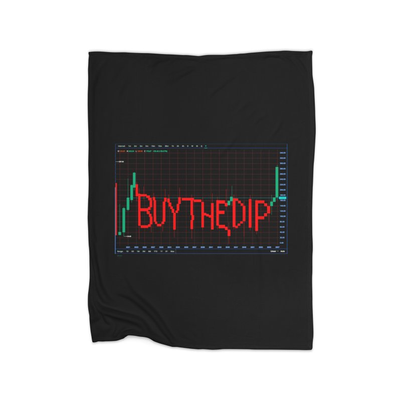 STOCK TIPS - BUY THE DIP Home Blanket by Carlos E Mendez Art