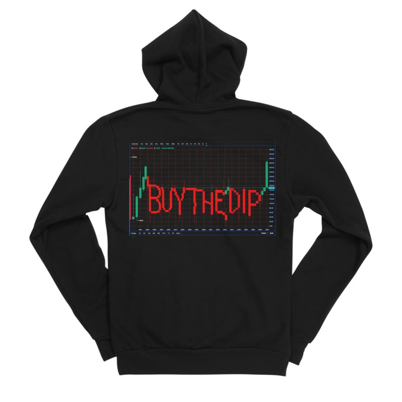 STOCK TIPS - BUY THE DIP Women's Zip-Up Hoody by Carlos E Mendez Art - Featured Design (CLICK HERE)