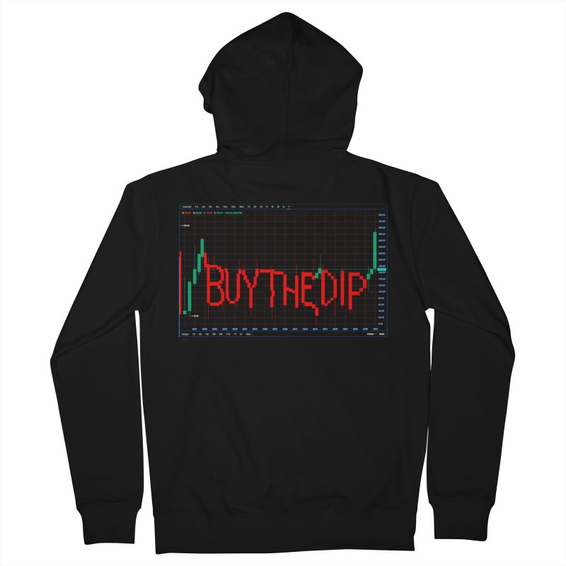 STOCK TIPS - BUY THE DIP Men's Zip-Up Hoody by Carlos E Mendez Art - Featured Design (CLICK HERE)