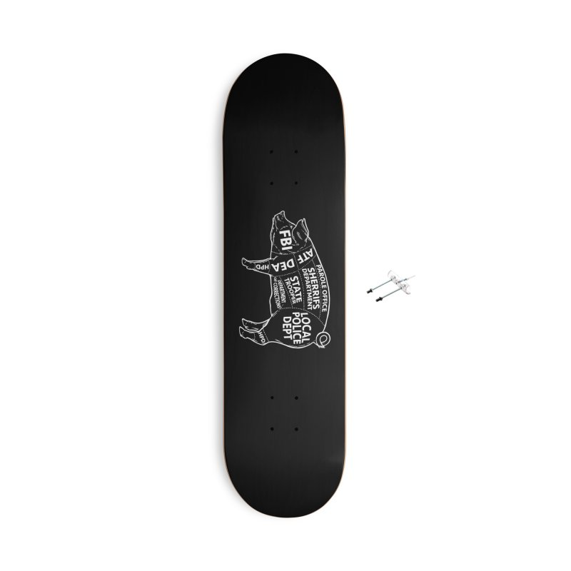 Misconduct and Corruption #6 Accessories Skateboard by Carlos E Mendez Art - Featured Design (CLICK HERE)