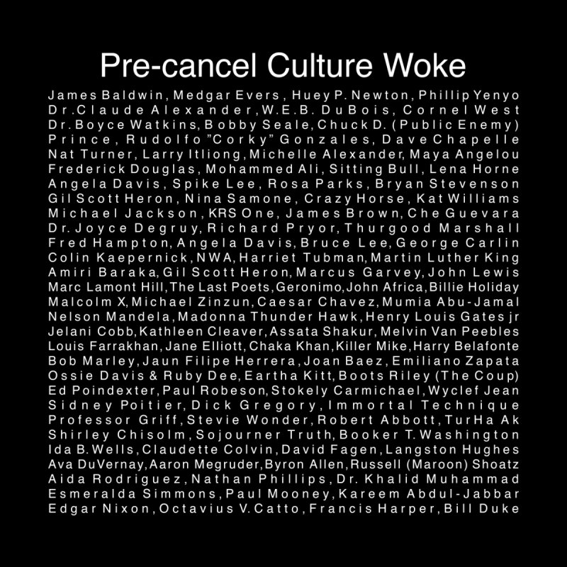 Pre-Cancel Culture Woke Men's T-Shirt by Carlos E Mendez Art - Featured Design (CLICK HERE)