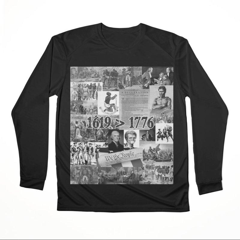 1619 > 1776 Men's Longsleeve T-Shirt by Carlos E Mendez Art - Featured Design (CLICK HERE)