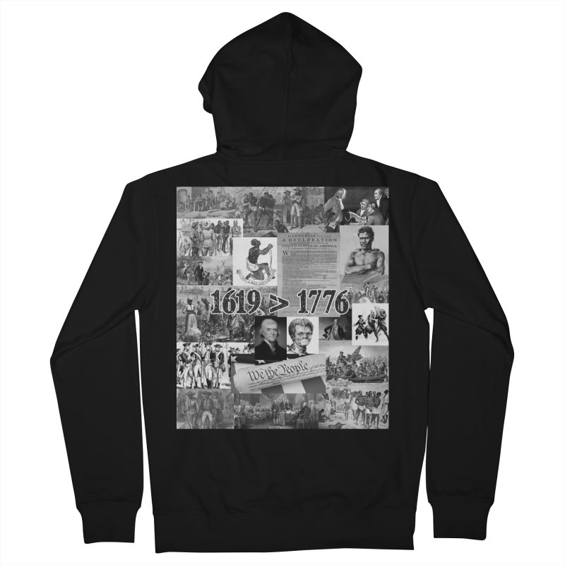1619 > 1776 Men's Zip-Up Hoody by Carlos E Mendez Art - Featured Design (CLICK HERE)