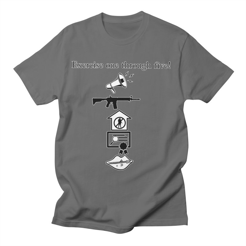 Excercise One through Five Men's T-Shirt by Carlos E Mendez Art - Featured Design (CLICK HERE)