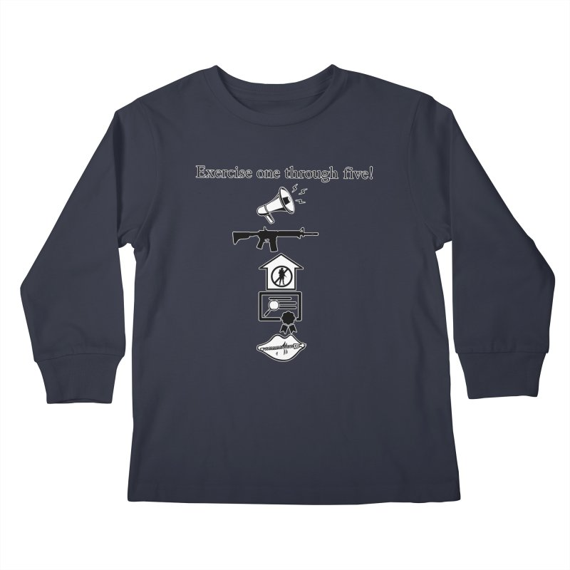 Excercise One through Five Kids Longsleeve T-Shirt by Carlos E Mendez Art - Featured Design (CLICK HERE)