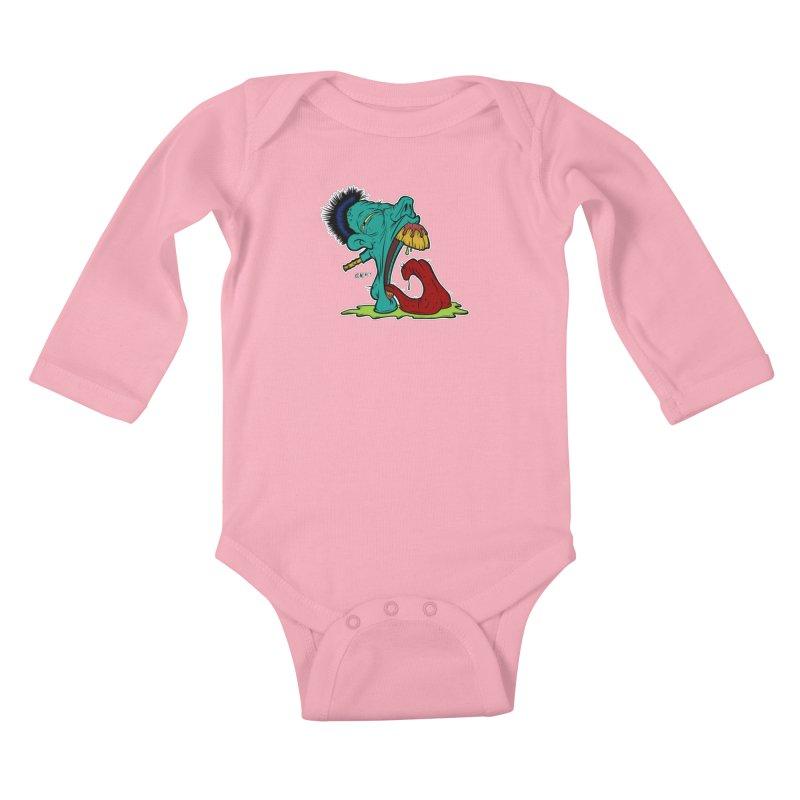 "Grotesque Alphabet Letter ""G"" by Carlos E Mendez Kids Baby Longsleeve Bodysuit by Carlos E Mendez Art"
