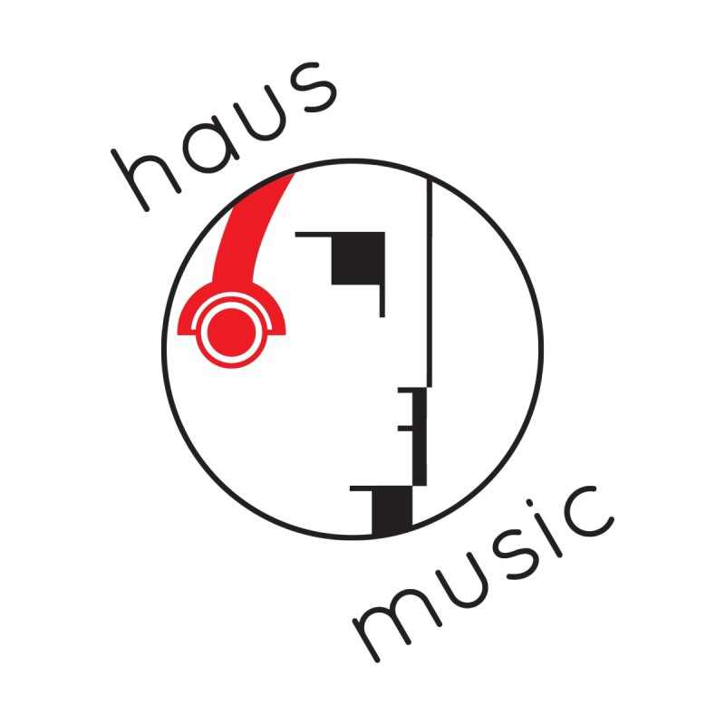 haus music Women's Fitted T-Shirt by Carlos Villamil's Artist Shop