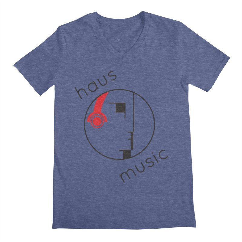 haus music Men's Regular V-Neck by Carlos Villamil's Artist Shop