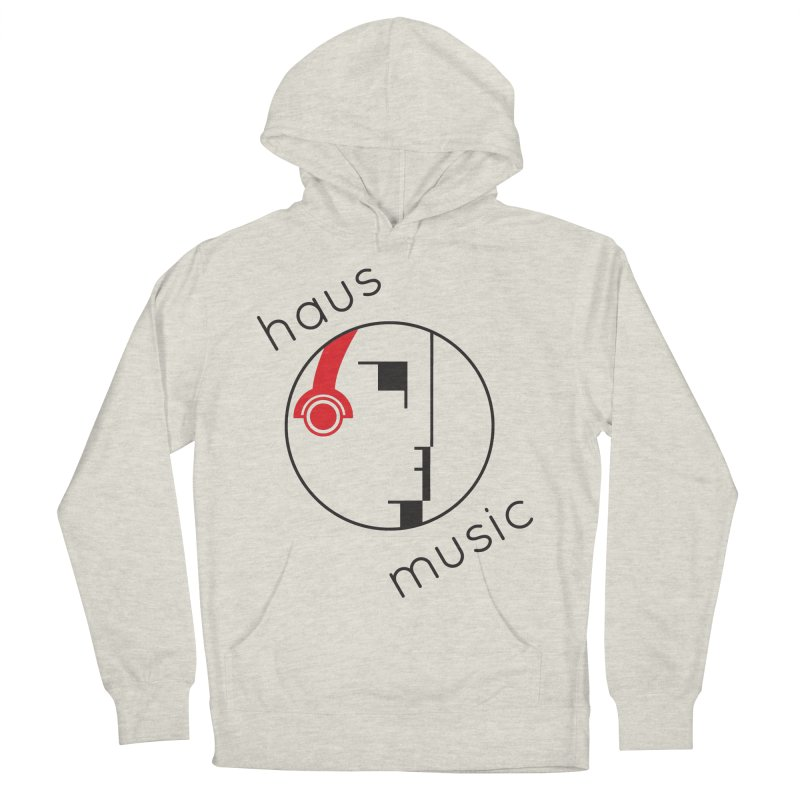 haus music Men's French Terry Pullover Hoody by Carlos Villamil's Artist Shop