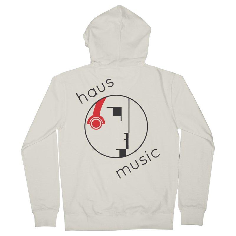 haus music Women's Zip-Up Hoody by Carlos Villamil's Artist Shop