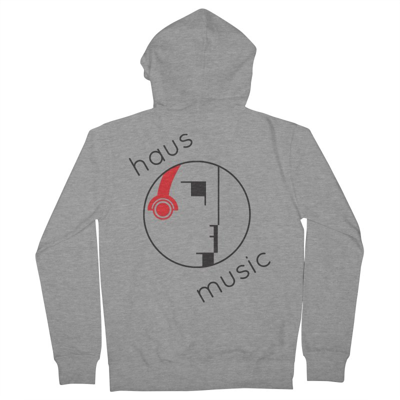 haus music Men's French Terry Zip-Up Hoody by Carlos Villamil's Artist Shop