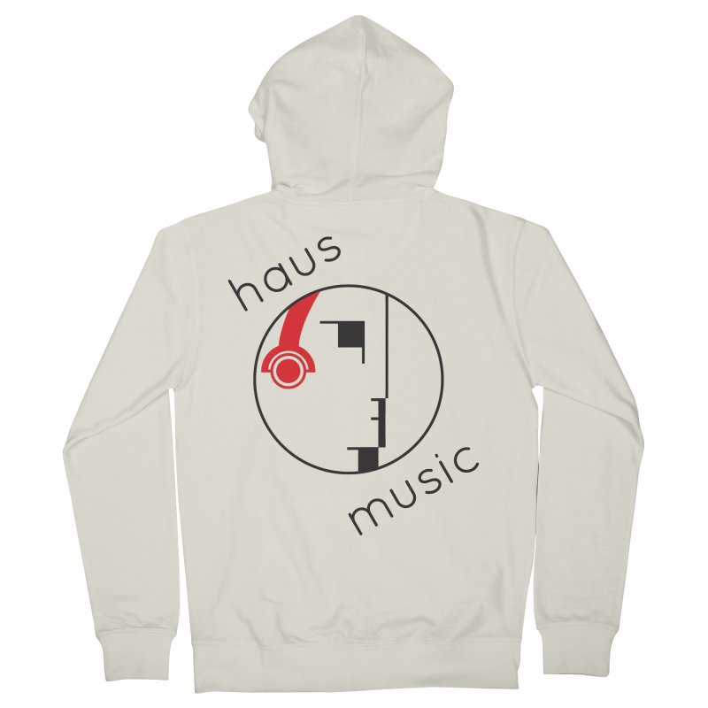 haus music Men's Zip-Up Hoody by Carlos Villamil's Artist Shop