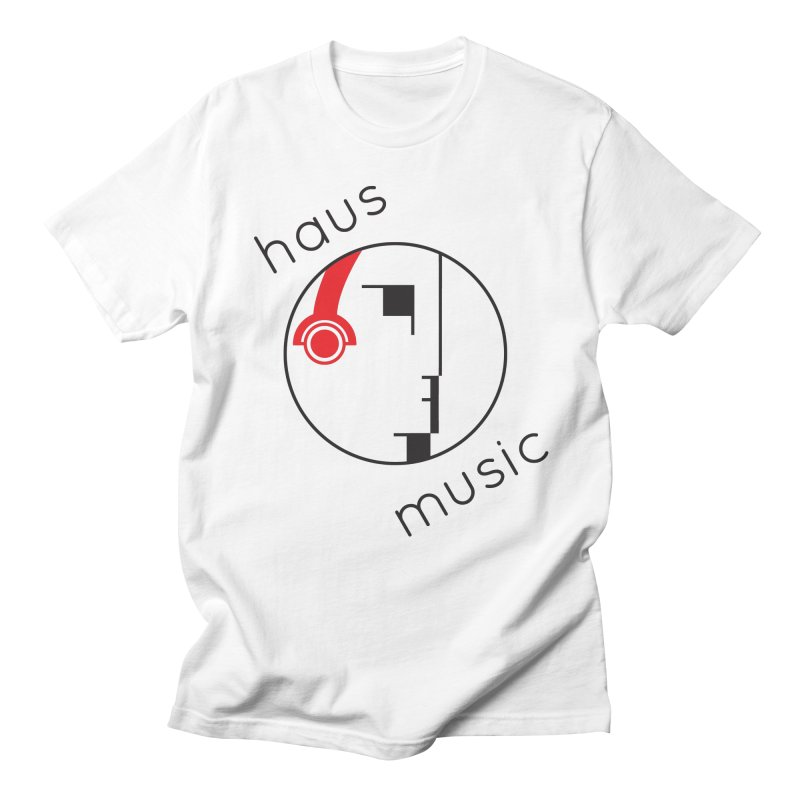 haus music in Men's Regular T-Shirt White by Carlos Villamil's Artist Shop