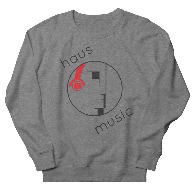 haus music Men's French Terry Sweatshirt by Carlos Villamil's Artist Shop