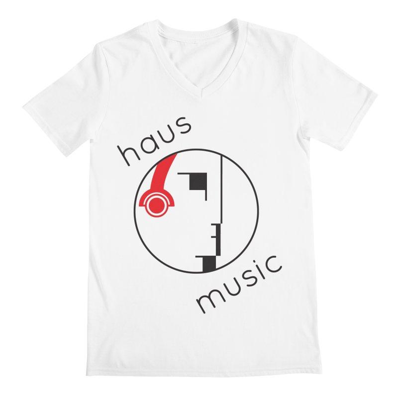 haus music Men's Regular V-Neck by Carlos Villamil's Artist Shop
