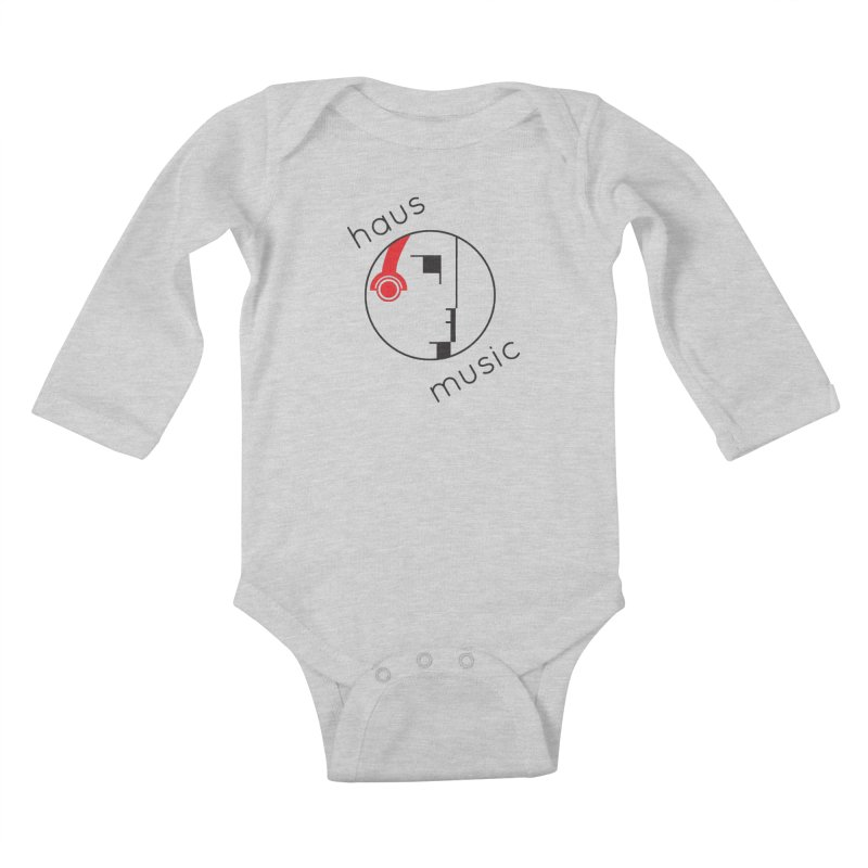 haus music Kids Baby Longsleeve Bodysuit by Carlos Villamil's Artist Shop