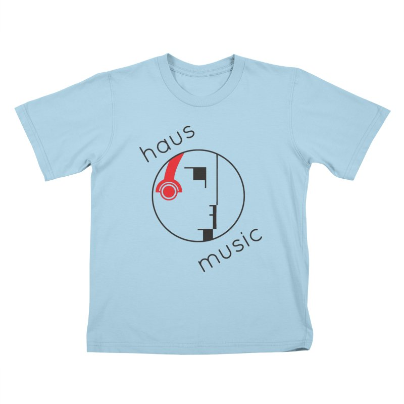 haus music Kids T-Shirt by Carlos Villamil's Artist Shop