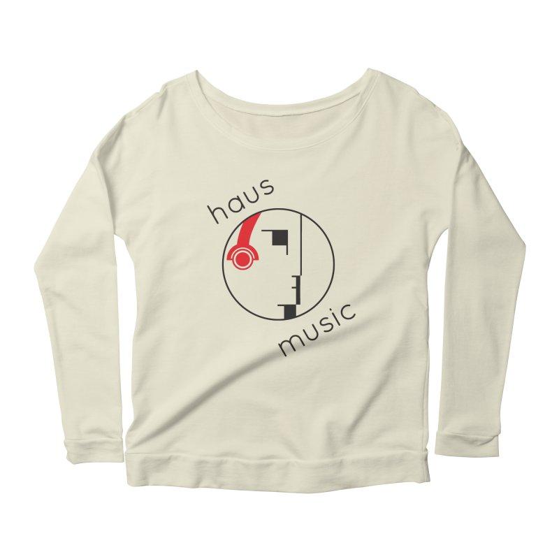 haus music Women's Scoop Neck Longsleeve T-Shirt by Carlos Villamil's Artist Shop