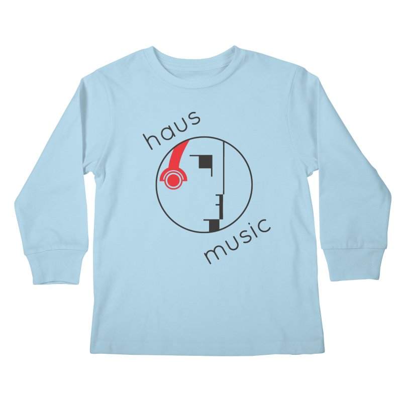 haus music Kids Longsleeve T-Shirt by Carlos Villamil's Artist Shop