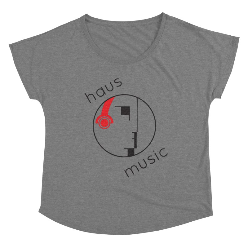 haus music Women's Scoop Neck by Carlos Villamil's Artist Shop