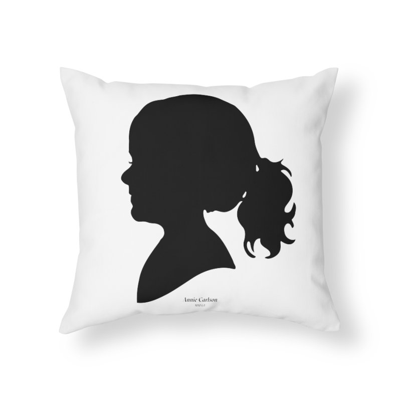 Annie Carlson Home Throw Pillow by Billy Carlson
