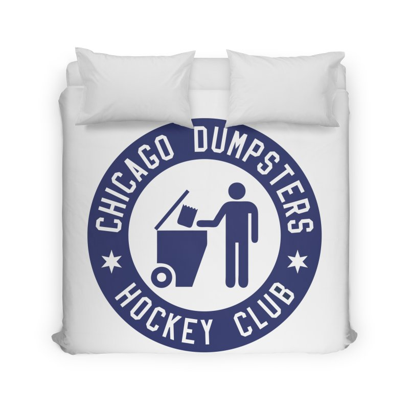 Dumpster Hockey 4 Life Home Duvet by Billy Carlson